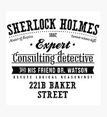 Sherlock Holmes Expert Photographic Print