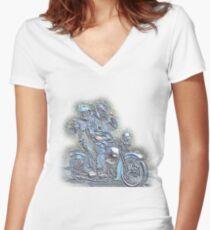 Harley Davidson WL Women's Fitted V-Neck T-Shirt