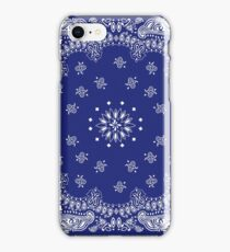 Blue Bandana  iPhone Case/Skin