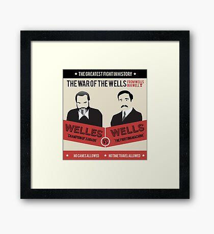War of the wells Framed Print