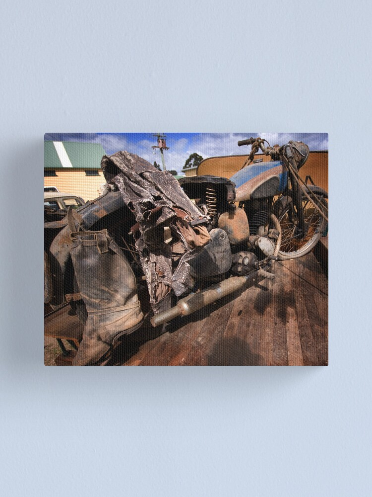Alternate view of Rusty Old Motorbike Canvas Print