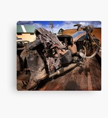 Rusty Old Motorbike Canvas Print