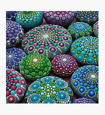 Mandala Stone Collection- Very Berry  Photographic Print