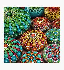 Mandala Stone Collection- Fire and Water Photographic Print