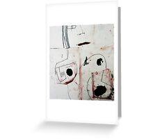 abstract form Greeting Card