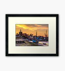 Maldon Sunset Framed Print