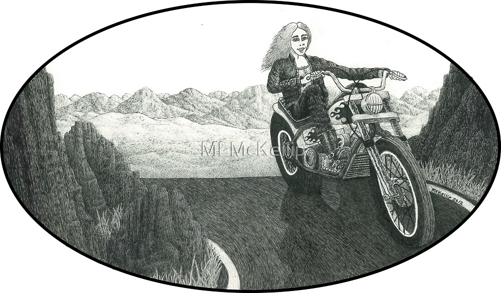 Motorcycle Mama II by Michael McKellip
