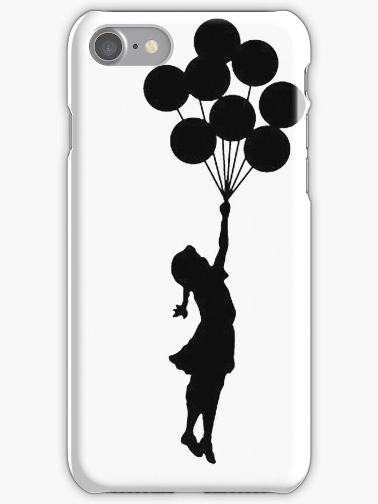 Girl floating away by aaronnaps