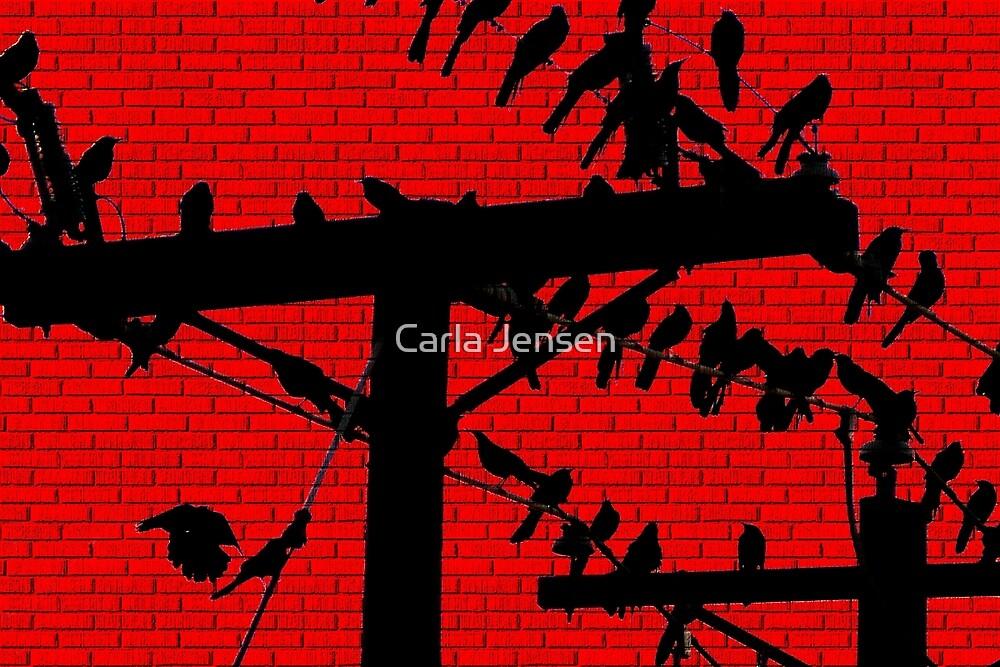 Birds On A Wire by Carla Jensen