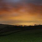Night Glow over Matley Moor by Mark Smitham