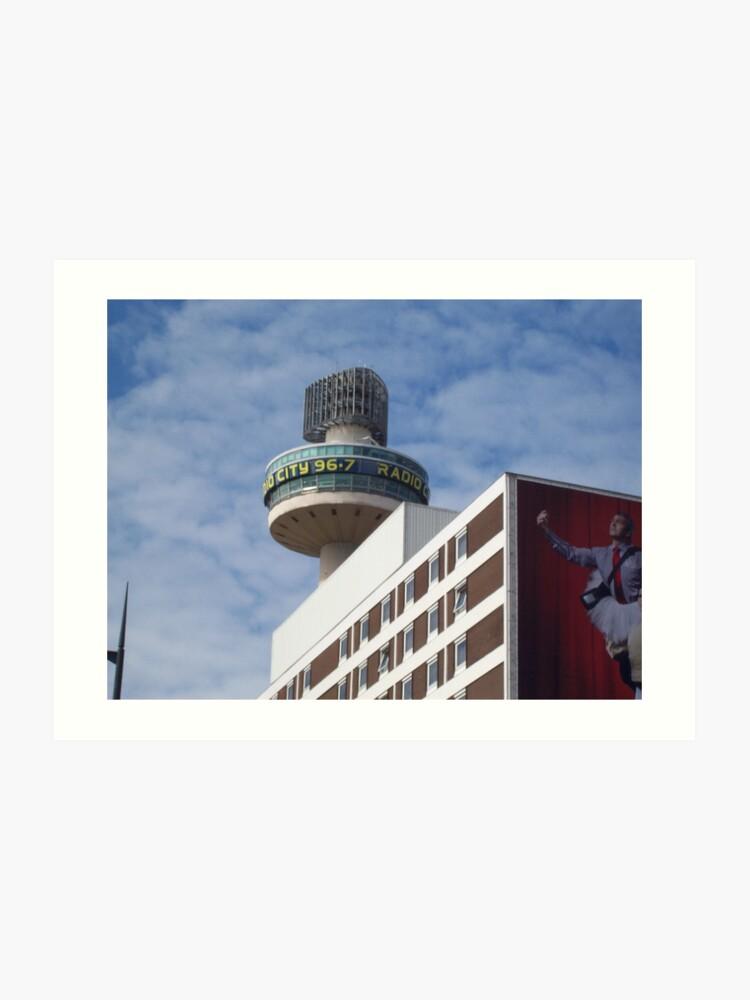 Radio City Radio Station Tower - Close-Up View | Art Print