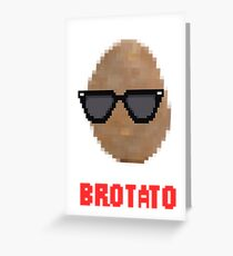 Brotato Greeting Card