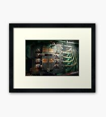 Steampunk - Naval - Electric - Lighting control panel Framed Print