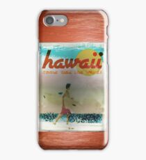 HAWAII AD - COME RIDE THE WAVES iPhone Case/Skin