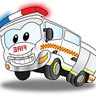 Happy the White Fire Truck by Derrick Burgess