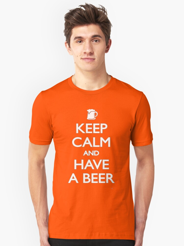 Keep calm and a beer Unisex T-Shirt Front