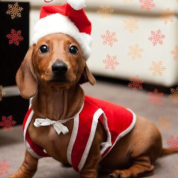 Merry Christmas Sausage Dog by xploit