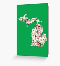 Michigan Flowers Greeting Card