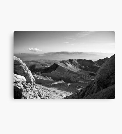 To the top of Gran Sasso Canvas Print