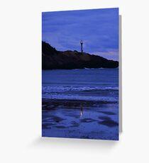 Night Falls on Cape Forchu Greeting Card