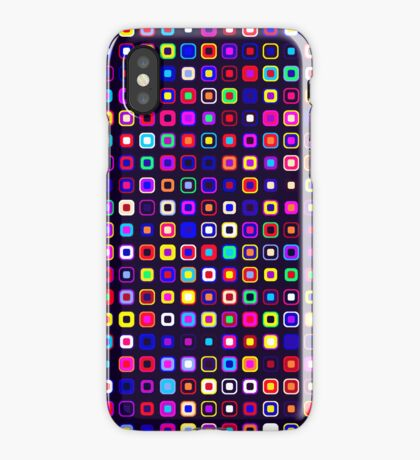 Retro Squares - Black [iPhone case] iPhone Case/Skin