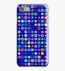 Retro Squares - Blue/Cyan [iPhone case] iPhone Case/Skin