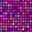Retro Squares - Magenta [iPhone case] by Damienne Bingham