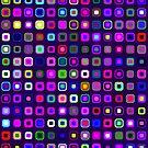 Retro Squares - Indigo [iPhone case] by Didi Bingham