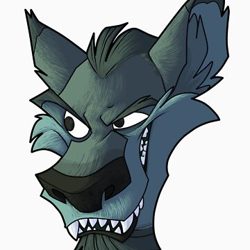 Blue wolf head with shading by Encsi-gryphon