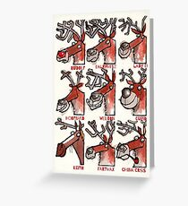 Rudolf the Red-Nosed Reindeer plus eight others Greeting Card