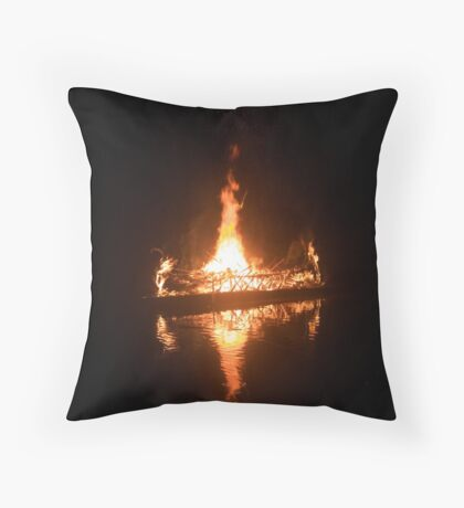 Galley, Galley Burning Bright Throw Pillow