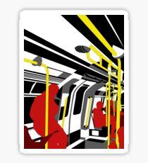 aboard the London trian Sticker