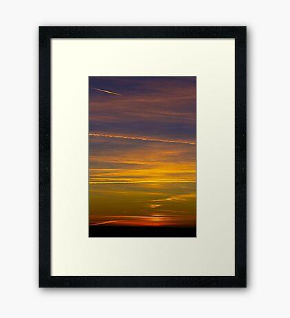 Flying West Framed Print