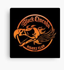 Black Chocobo Riders Club Canvas Print