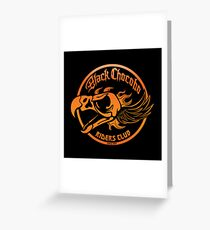 Black Chocobo Riders Club Greeting Card
