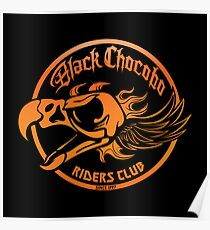 Black Chocobo Riders Club Poster