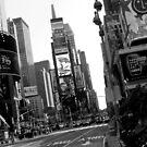 Times Square Black & White by dgscotland