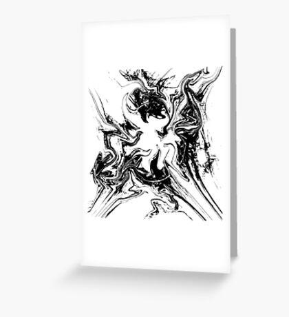 Disintegration Greeting Card