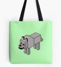 Minecraft Wolf Design Tote Bag