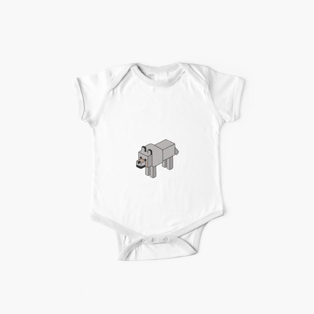 Minecraft Wolf Design Body para bebé