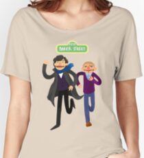 Puppety Sherlock and John Women's Relaxed Fit T-Shirt