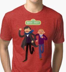 Puppety Sherlock and John Tri-blend T-Shirt