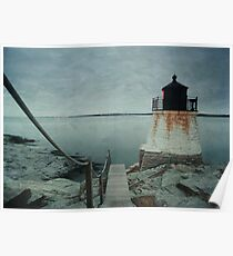 Castle Hill Lighthouse Texture Poster
