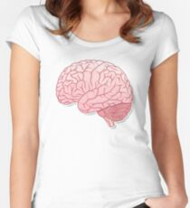 pinky brain Women's Fitted Scoop T-Shirt
