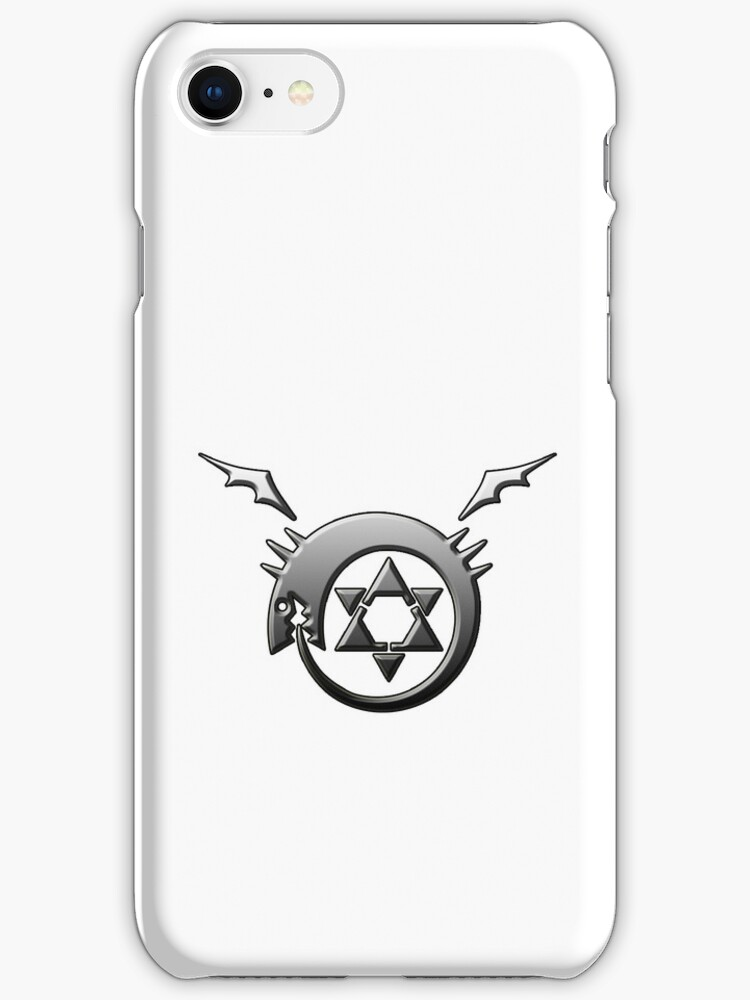 Full Metal Alchemist Ouroboros Symbol iPhone / iPod Cover - White by Aaron Campbell
