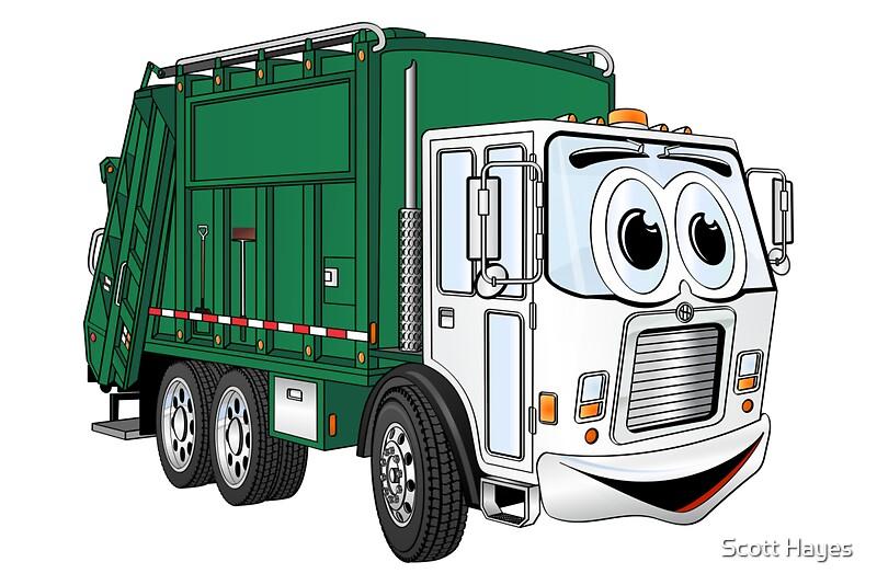garbage truck cartoon -#main