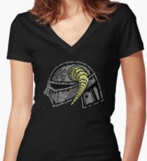 Fus Metal Jacket Women's Fitted V-Neck T-Shirt