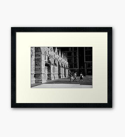 Leaving enlightened Framed Print