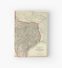 Vintage Map of Texas (1890) Hardcover Journal