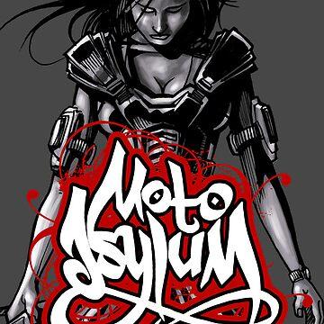 MotoAsylum Female Rider - iPhone Case by quigonjim